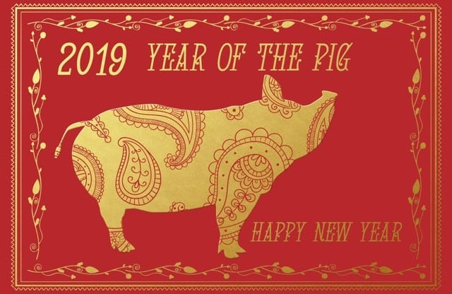 2019 Chinese Star Sign Pig